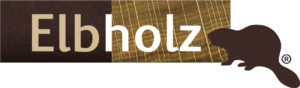 Das Logo von Elbholz mit dem Biber